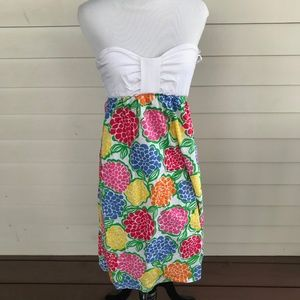 Lilly Pulitzer Floral Strapless Cotton Dress